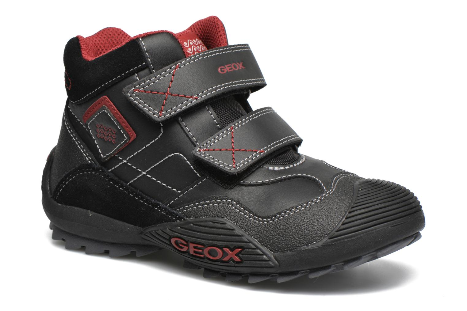 Trainers Geox JR Savage J5424A Black detailed view/ Pair view