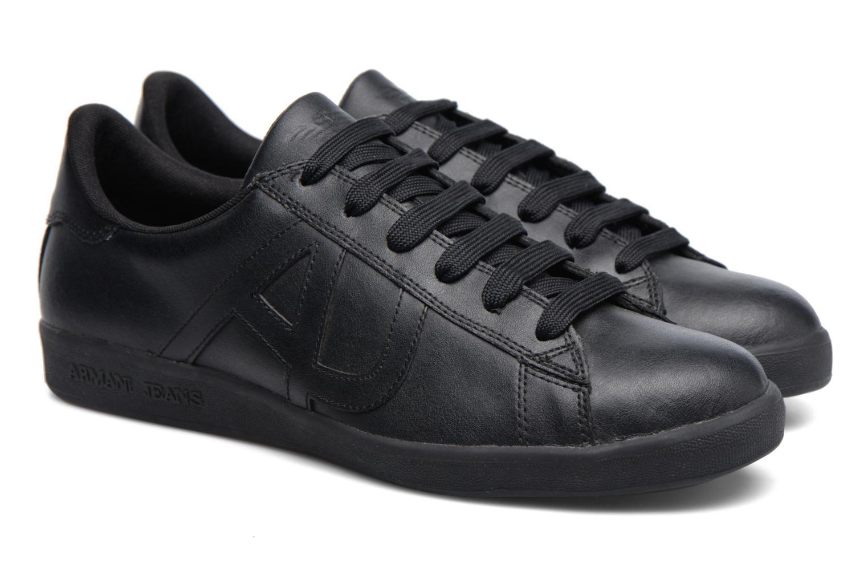 Baskets Armani Jeans Matteo Noir vue 3/4