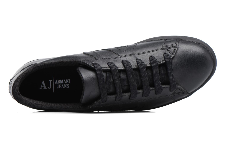 Baskets Armani Jeans Matteo Noir vue gauche