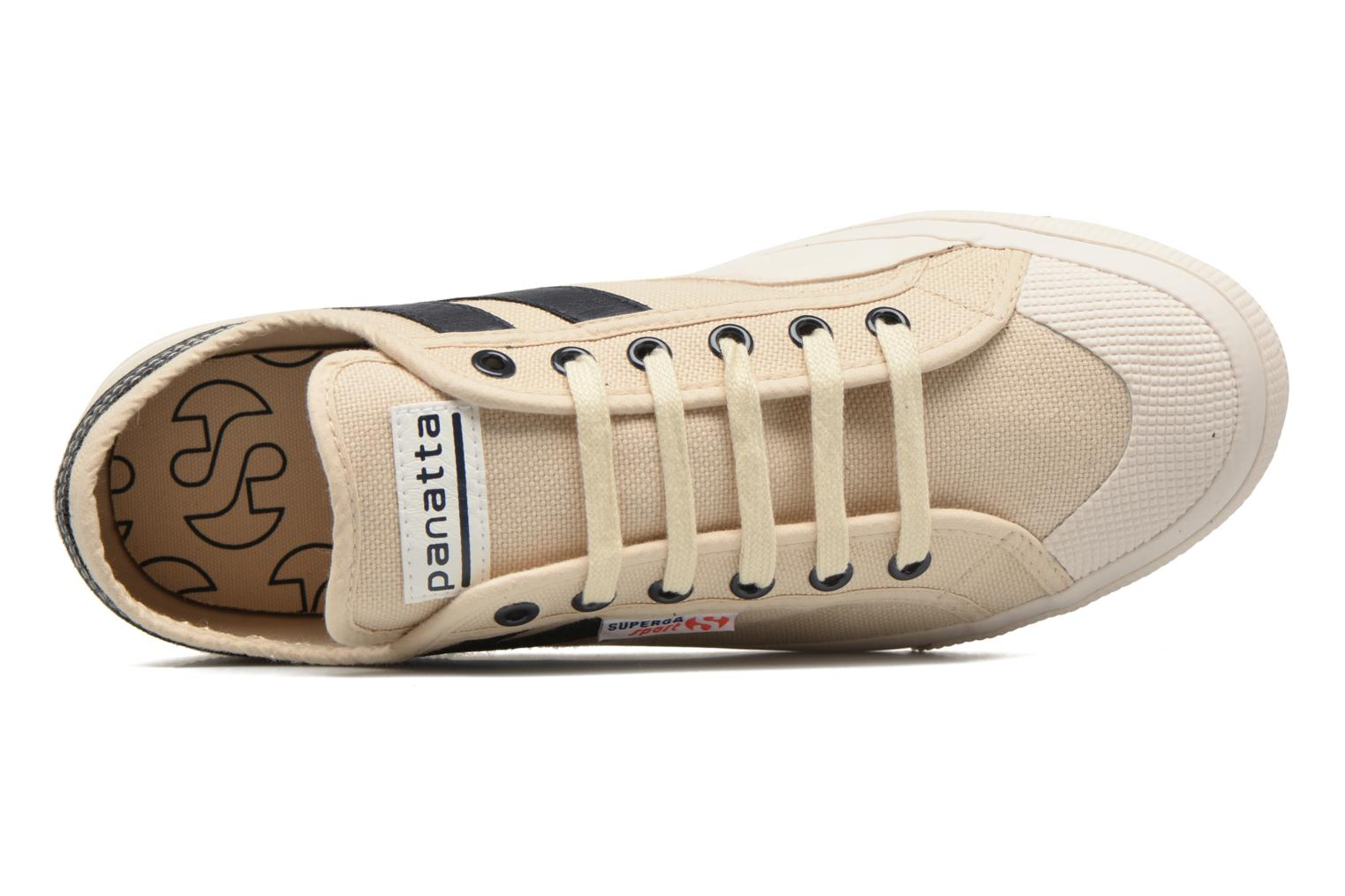 Trainers Superga 2750 Cotu Panatta Beige view from the left