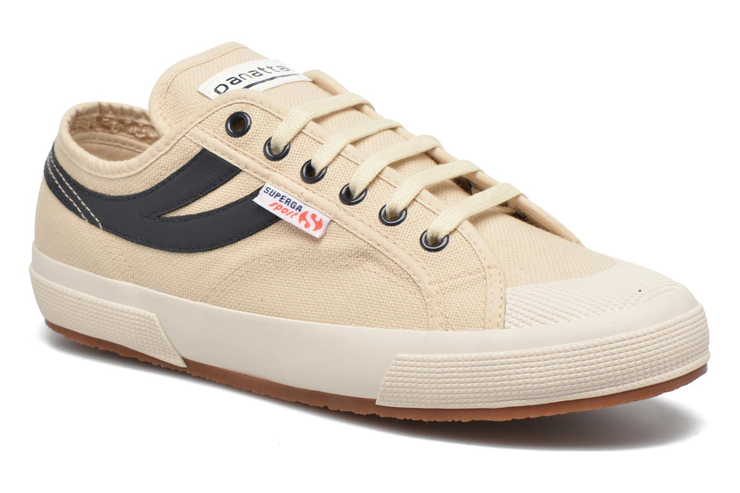 Trainers Superga 2750 Cotu Panatta Beige detailed view/ Pair view