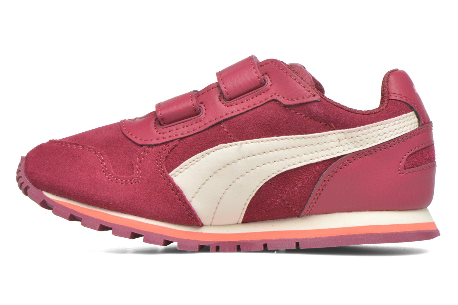 Trainers Puma Inf St Runner Sd V Burgundy front view