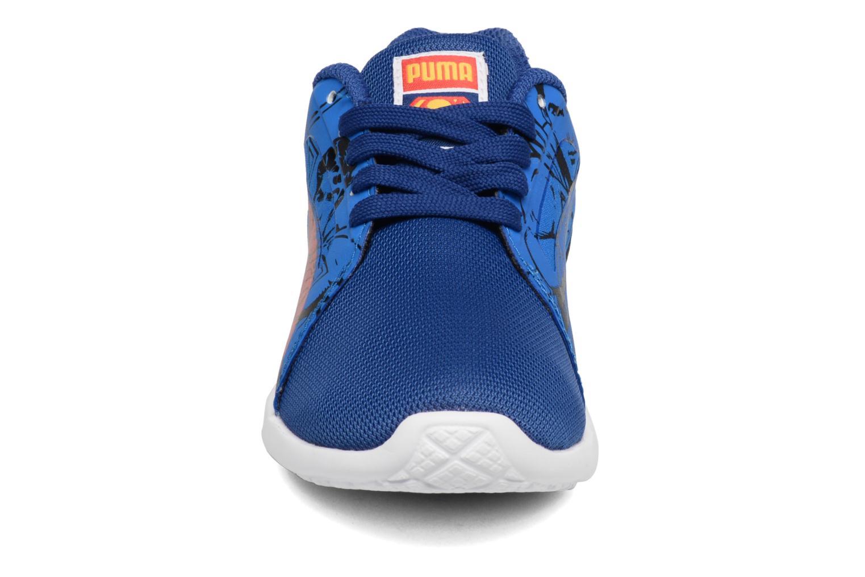 Baskets Puma Inf St Trainer Superman / Ps St Trainer Superman Bleu vue portées chaussures
