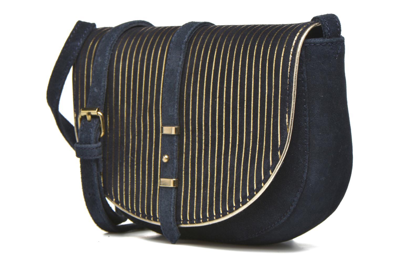 Sacs à main Petite mendigote Solal Demi-lune Bleu vue portées chaussures