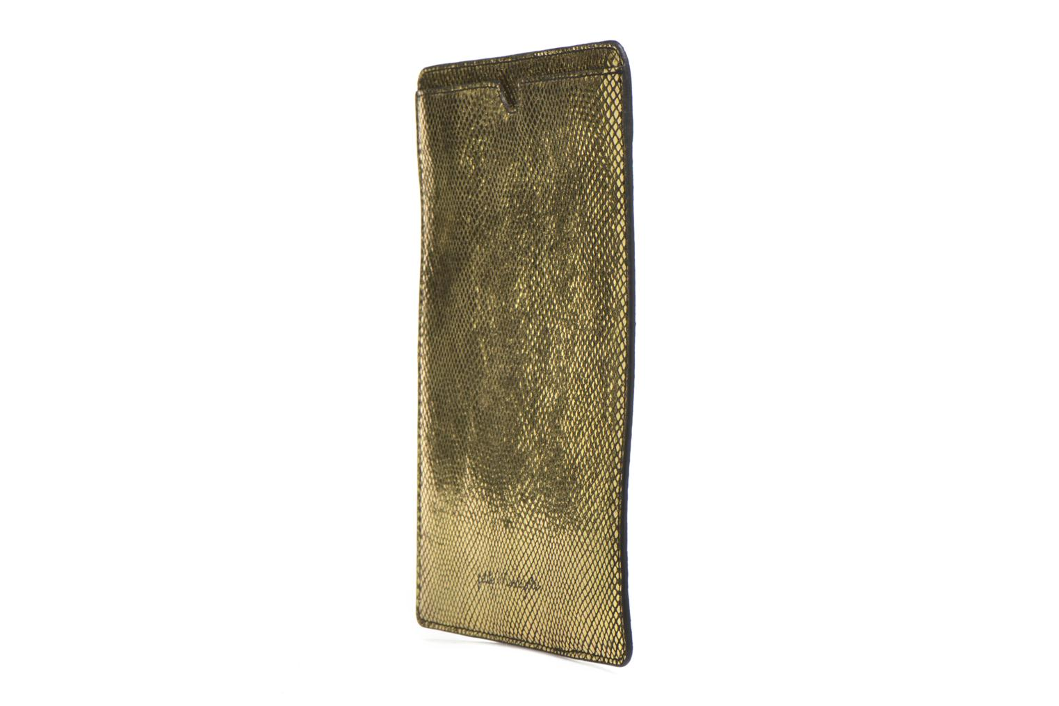 Big Etoile Porte iPad Gold exotic cow split oil