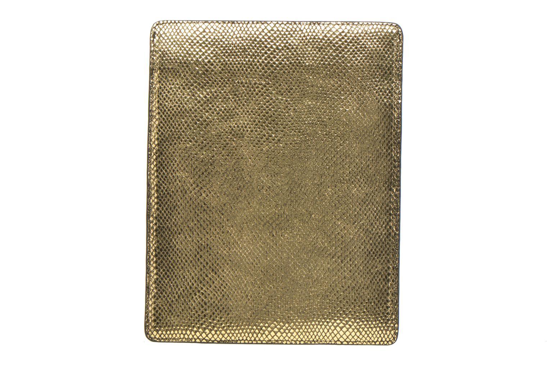Marroquinería pequeña Petite mendigote Big Etoile Porte iPad Oro y bronce vista de frente