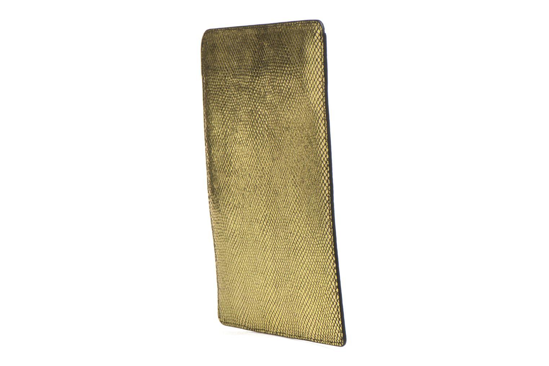 Petite Maroquinerie Petite mendigote Big Etoile Porte iPad Or et bronze vue droite