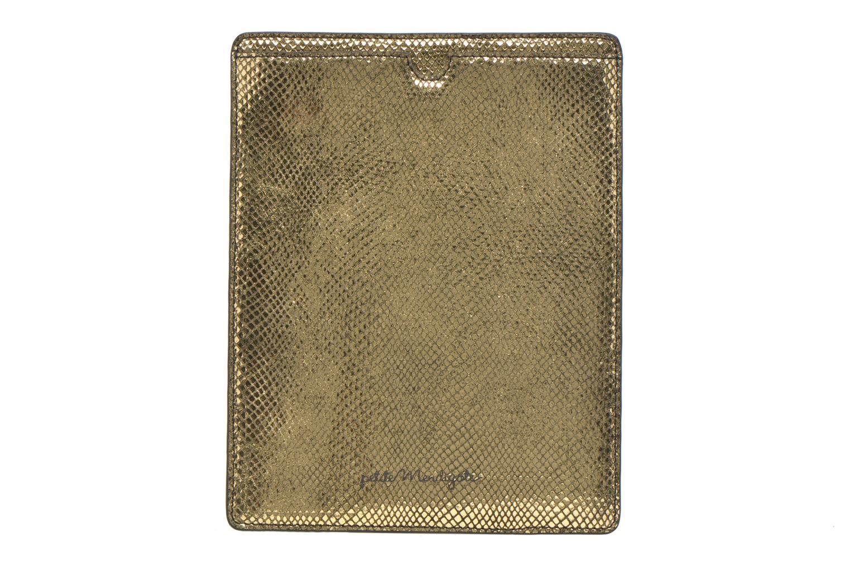 Petite Maroquinerie Petite mendigote Big Etoile Porte iPad Or et bronze vue détail/paire