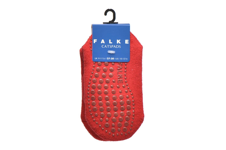 Socken & Strumpfhosen Falke Chaussons-chaussettes Catspads rot ansicht von hinten