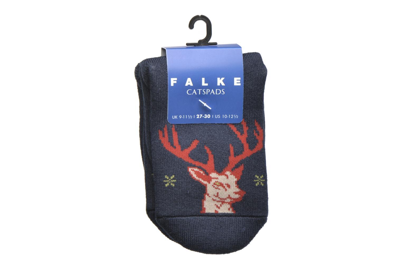 Socken & Strumpfhosen Falke Chaussons-chaussettes My Dear Catspads blau ansicht von hinten