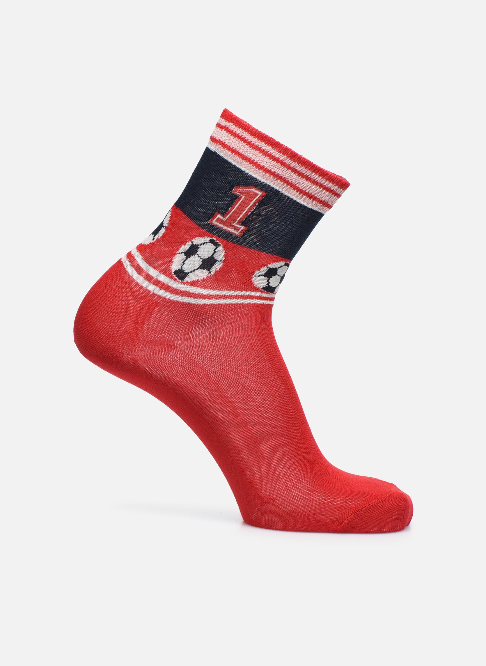 Chaussettes et collants Falke Chaussettes Soccer Rouge vue détail/paire