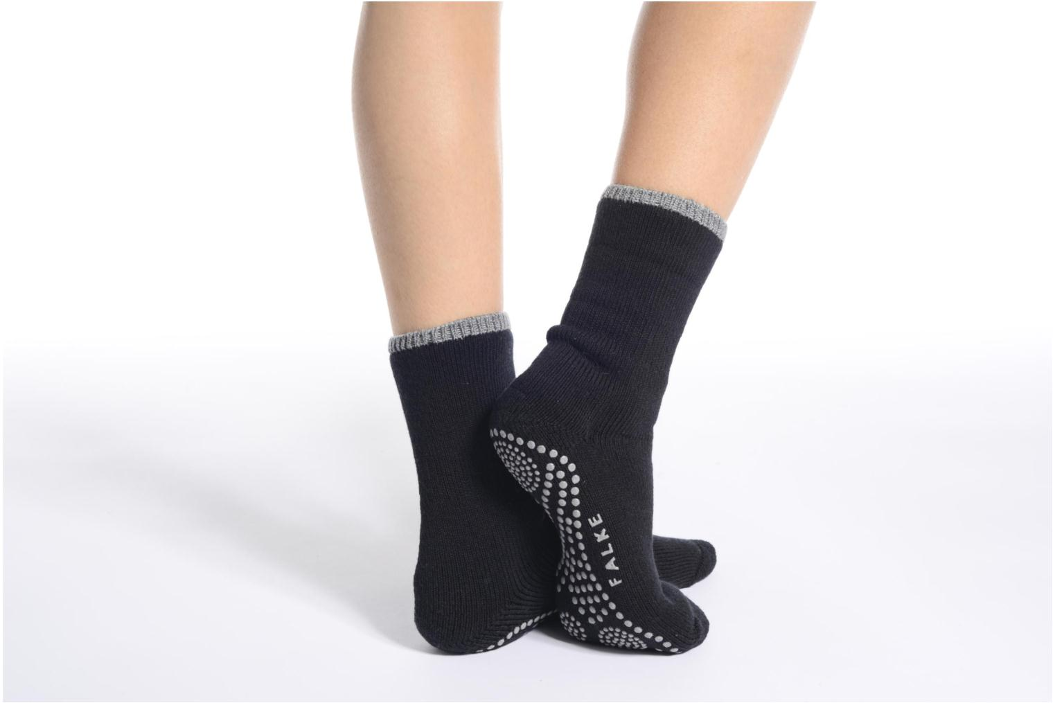Socks & tights Falke Chaussons-chaussettes Cuddle Pads Black view from above