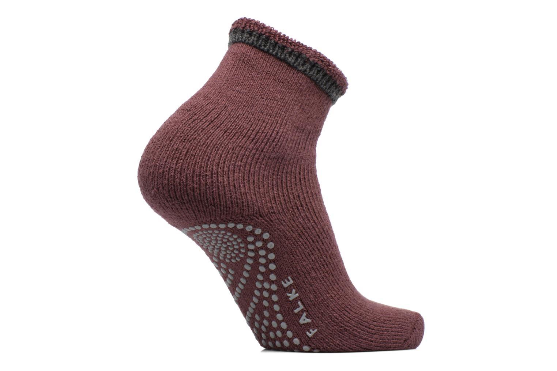 Chaussettes et collants Falke Chaussons-chaussettes Cuddle Pads Bordeaux vue détail/paire