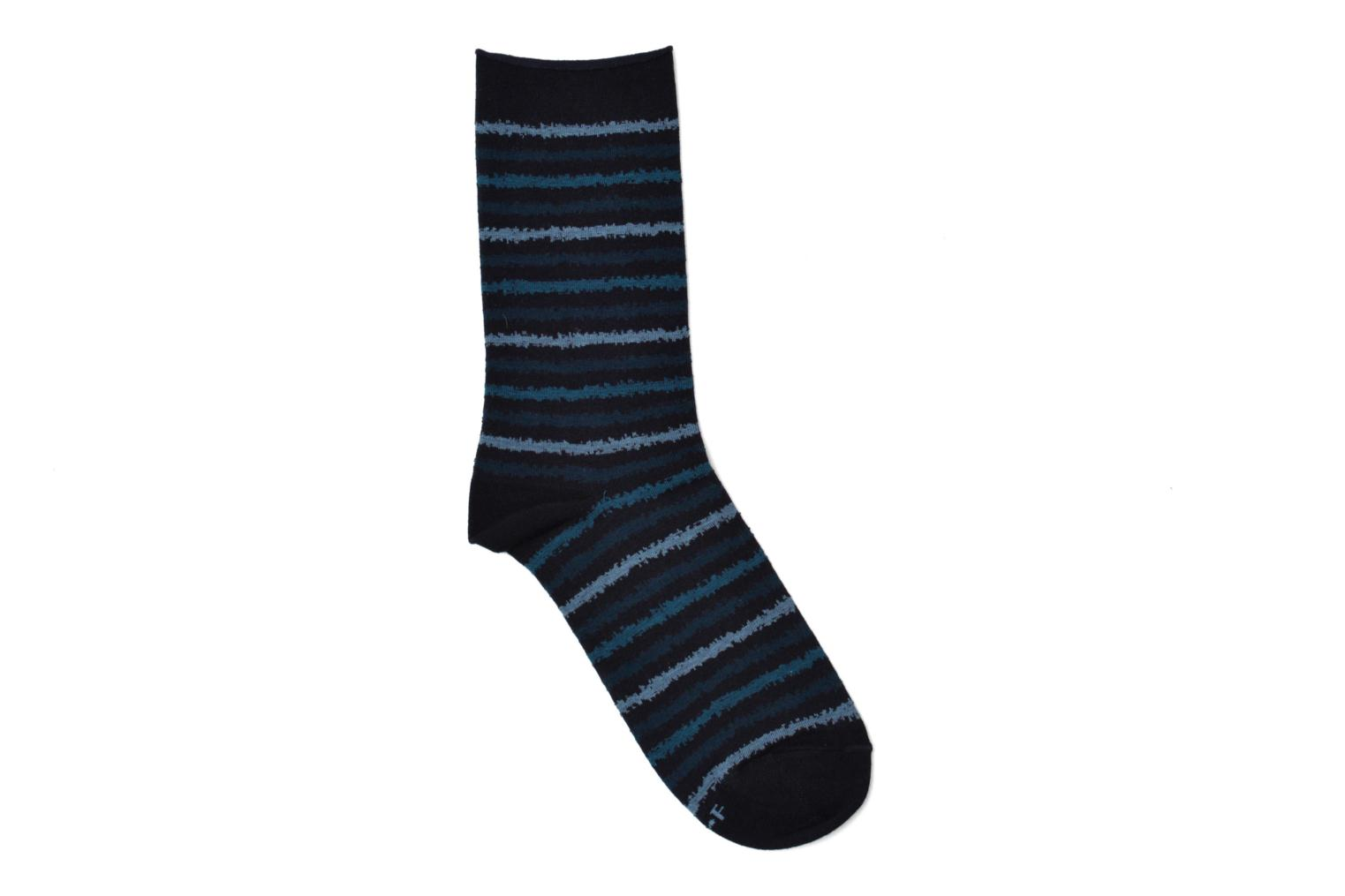 Socks & tights BLEUFORÊT Chaussettes coton rayures Blue detailed view/ Pair view