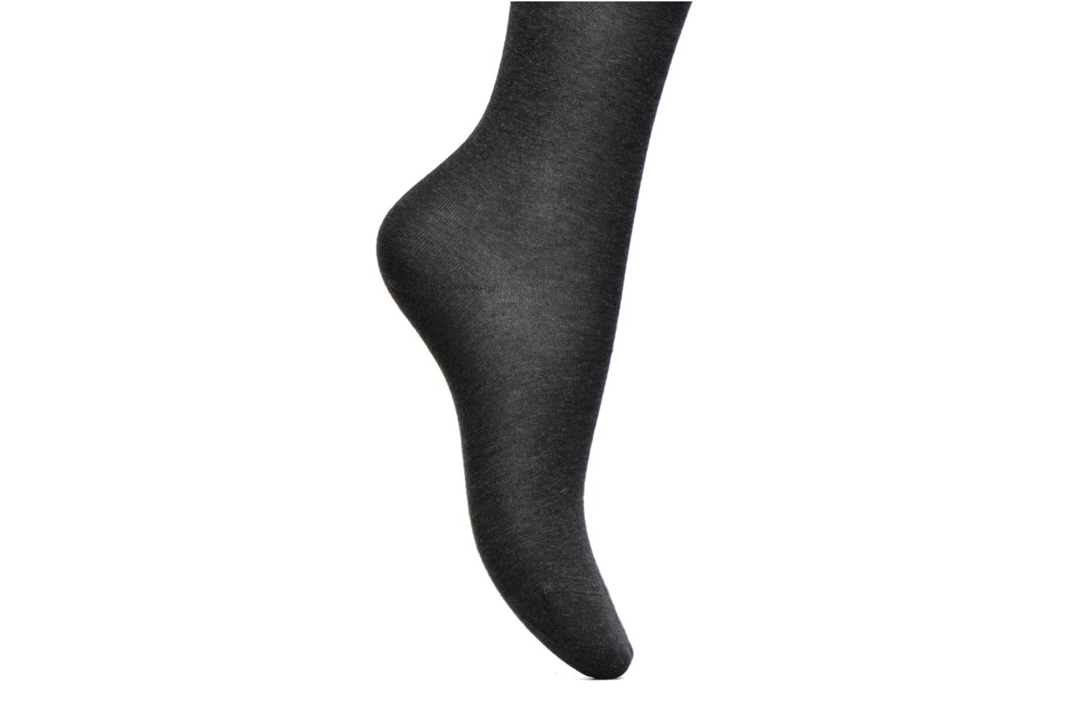 Collant coton velouté Anthracite - HZ7