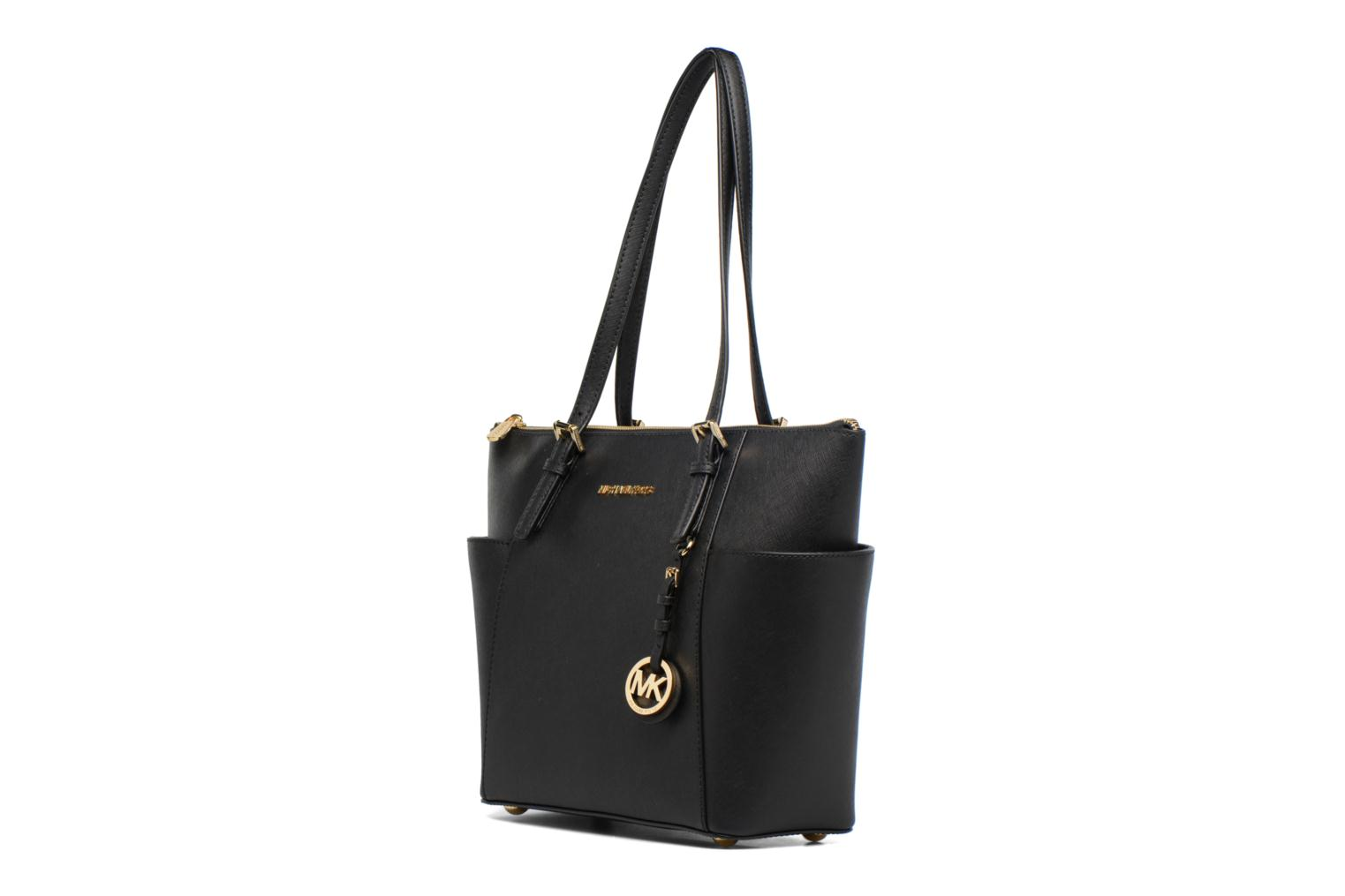 Handbags Michael Michael Kors JET SET ITEM EW TZ Tote Black model view