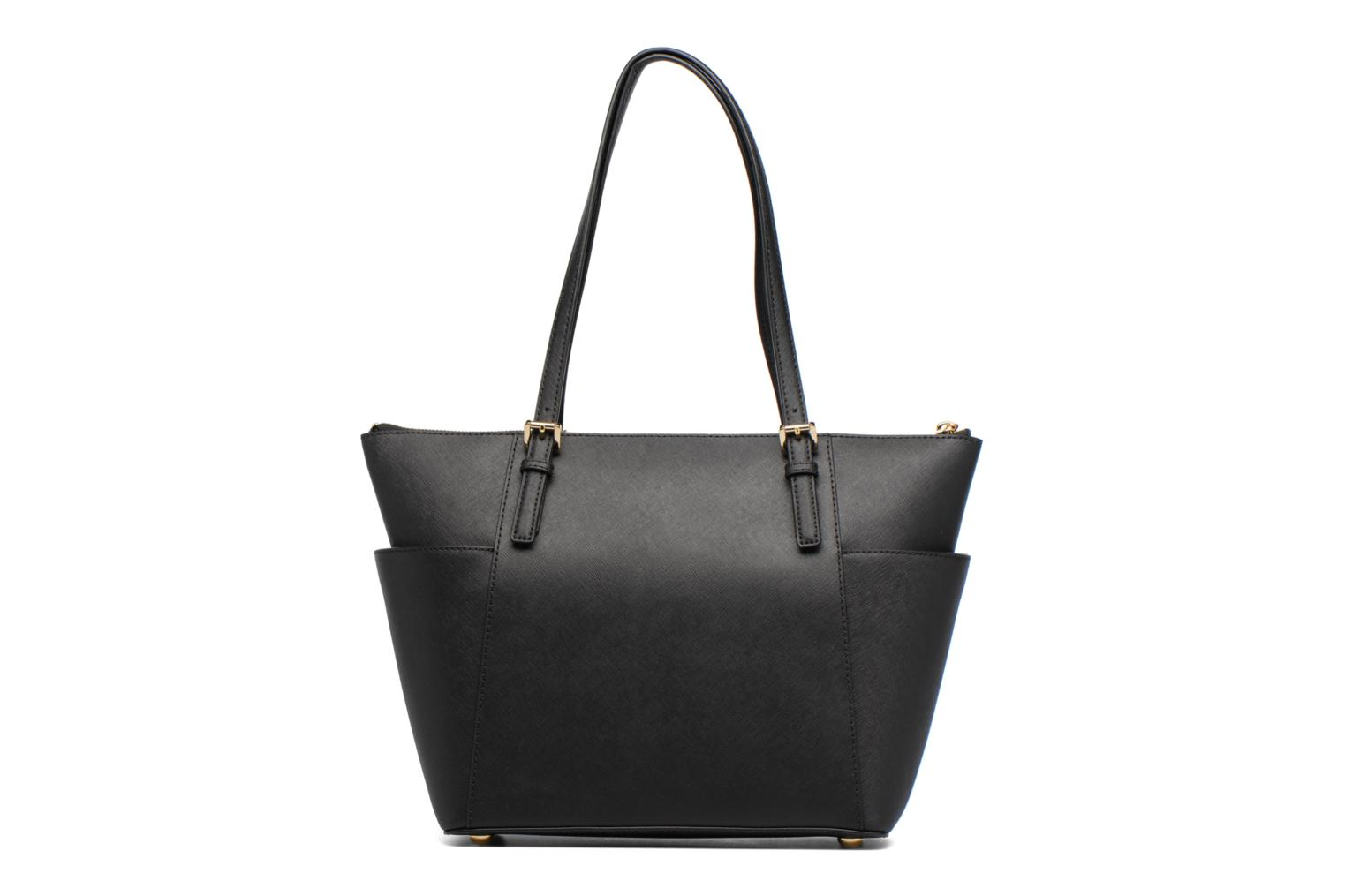 Handbags Michael Michael Kors JET SET ITEM EW TZ Tote Black front view