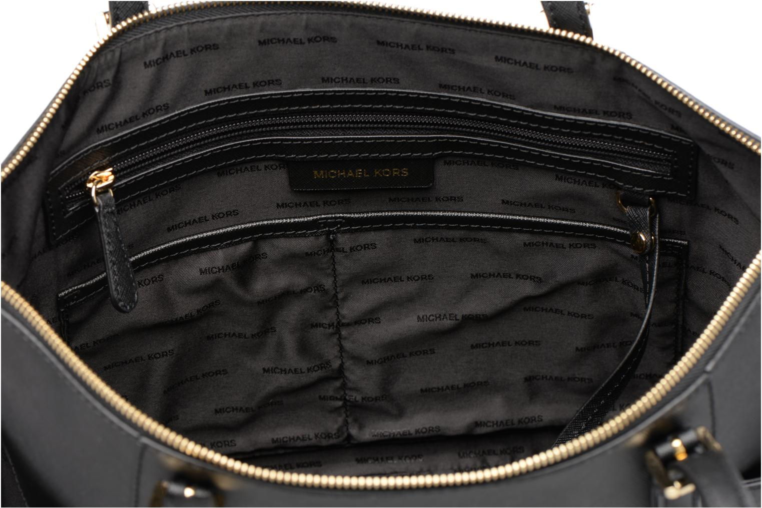 Handbags Michael Michael Kors JET SET ITEM EW TZ Tote Black back view