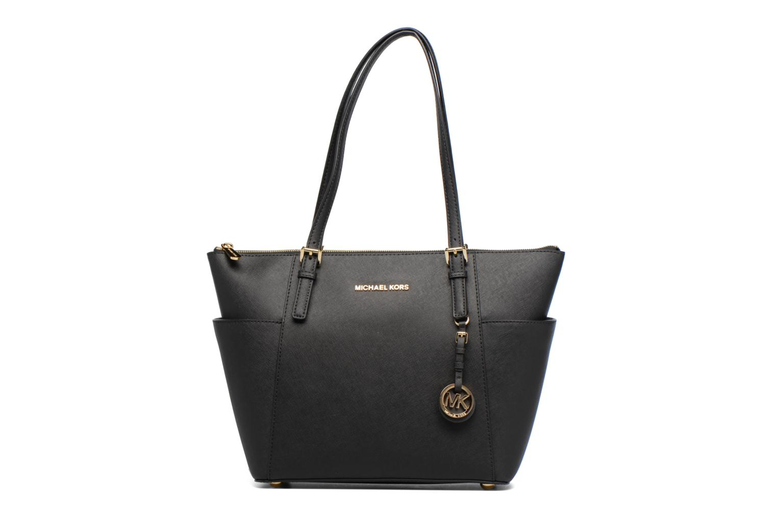 Handbags Michael Michael Kors JET SET ITEM EW TZ Tote Black detailed view/ Pair view
