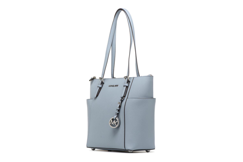 Bolsos de mano Michael Michael Kors JET SET ITEM EW TZ Tote Azul vista del modelo