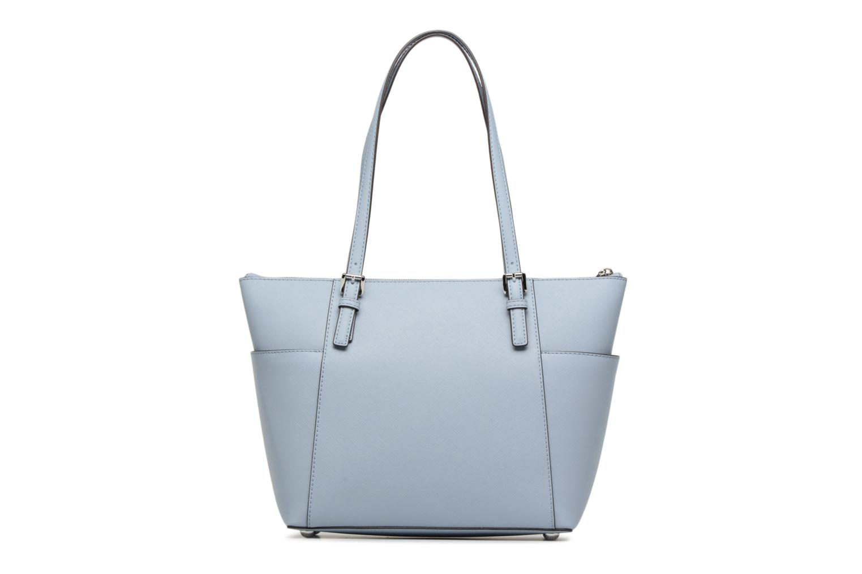 Handbags Michael Michael Kors JET SET ITEM EW TZ Tote Blue front view