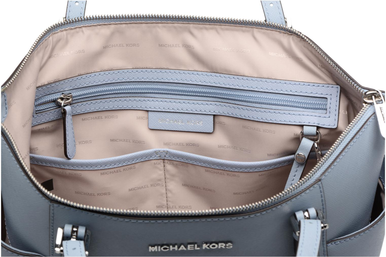 Håndtasker Michael Michael Kors JET SET ITEM EW TZ Tote Blå se bagfra