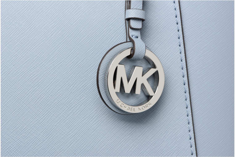 Bolsos de mano Michael Michael Kors JET SET ITEM EW TZ Tote Azul vista lateral izquierda