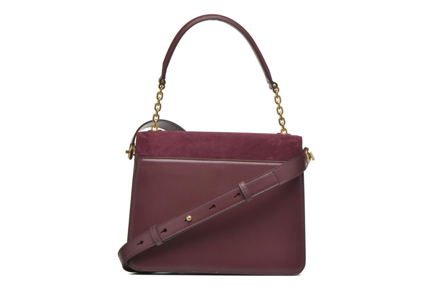 Sacs à main Michael Michael Kors NATHALIE MD TH Satchel Bordeaux vue face