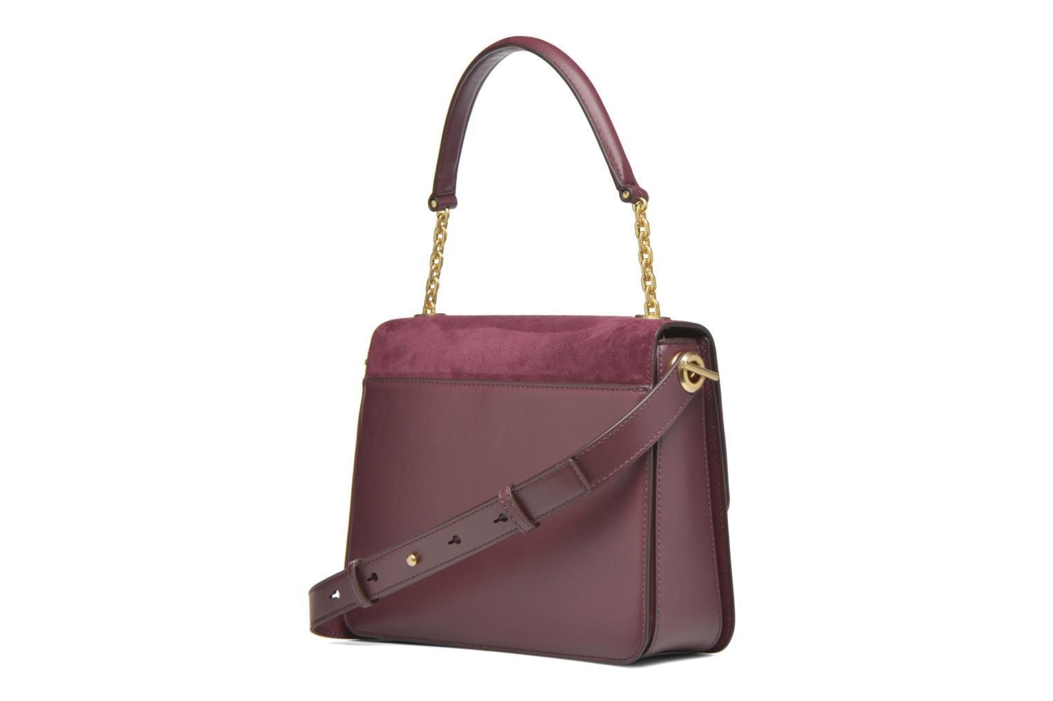 Sacs à main Michael Michael Kors NATHALIE MD TH Satchel Bordeaux vue droite