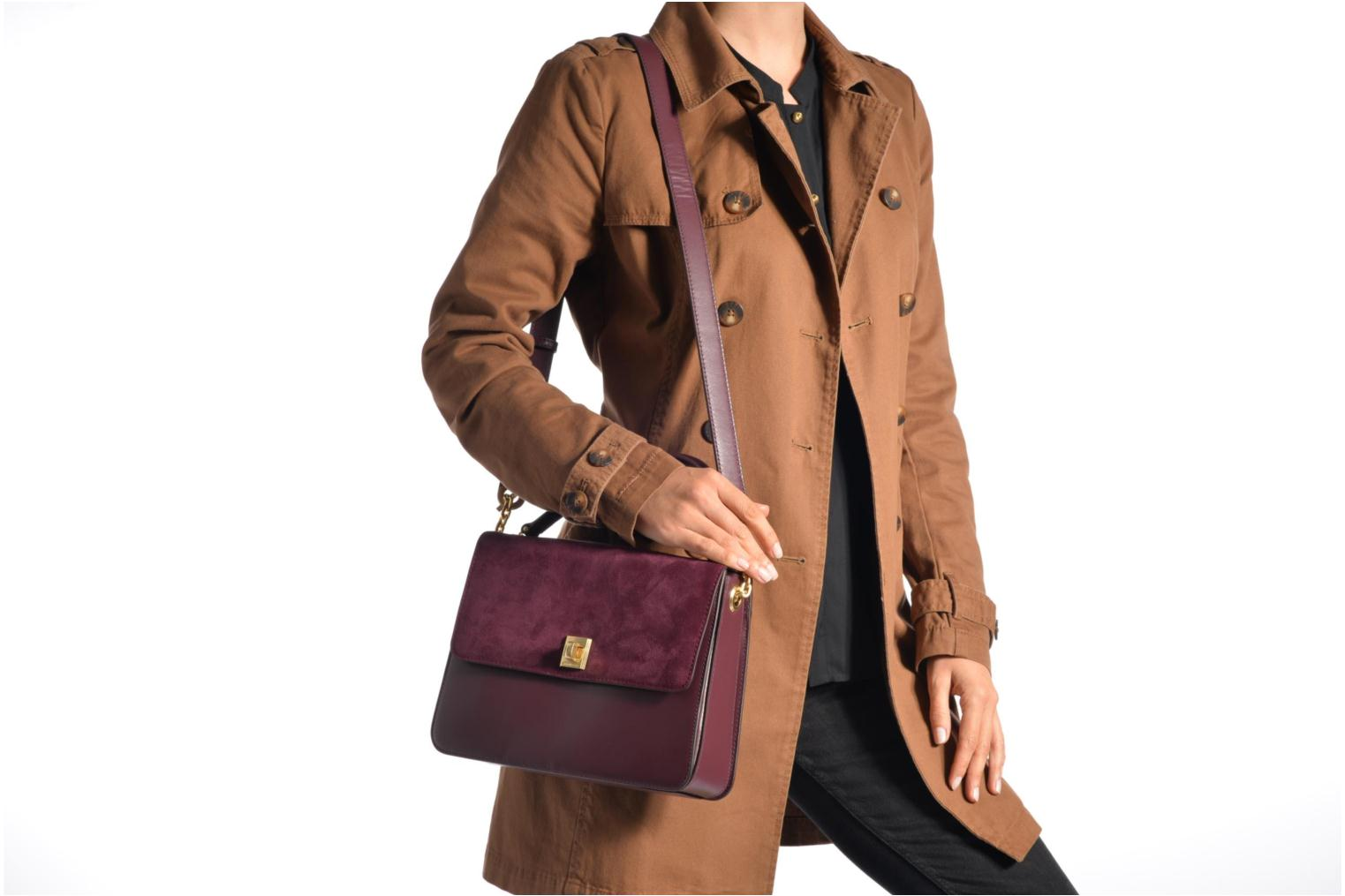 Sacs à main Michael Michael Kors NATHALIE MD TH Satchel Bordeaux vue haut