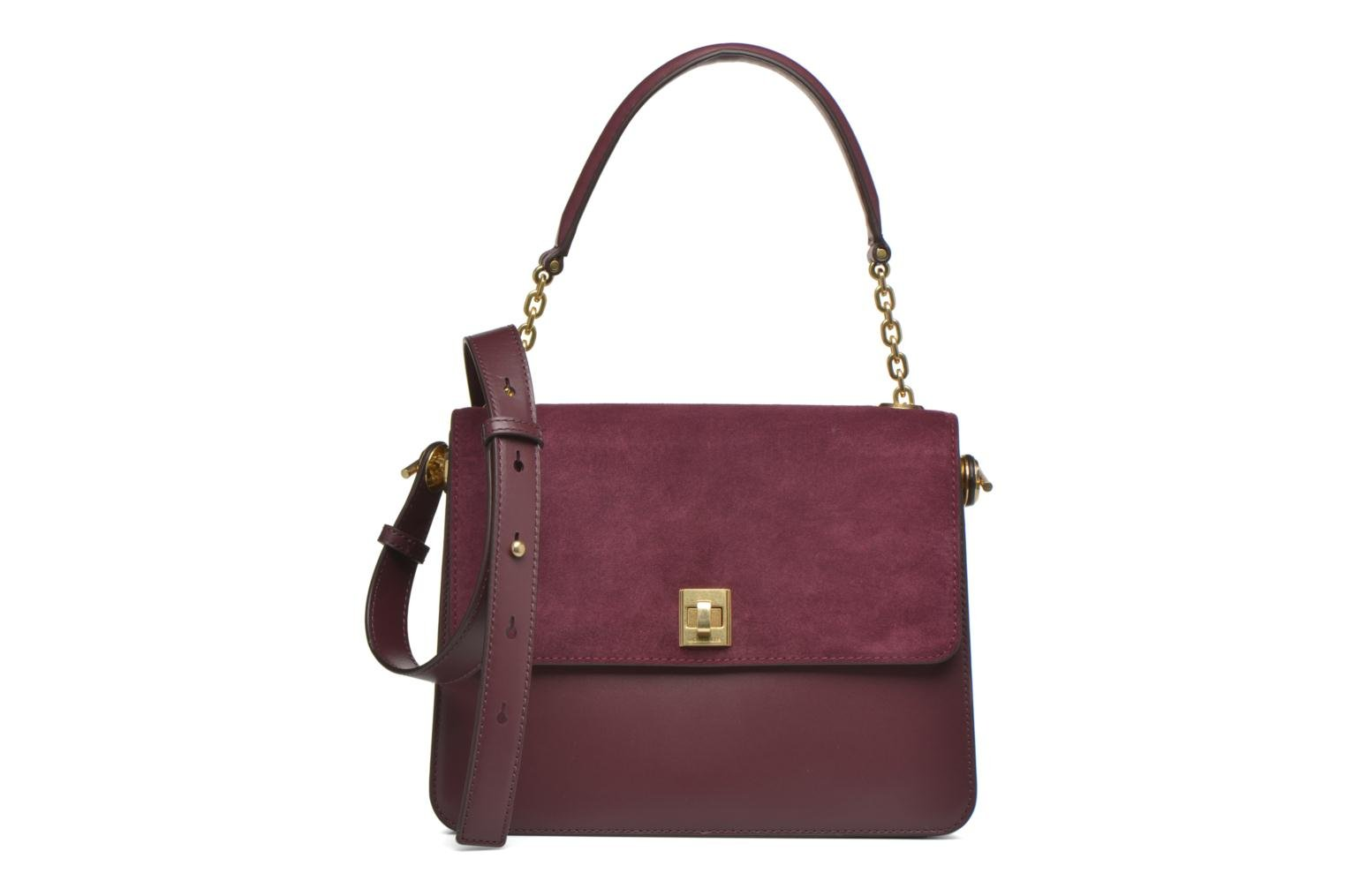 Sacs à main Michael Michael Kors NATHALIE MD TH Satchel Bordeaux vue détail/paire