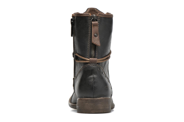 Bottines et boots Mustang shoes Erika Bleu vue droite