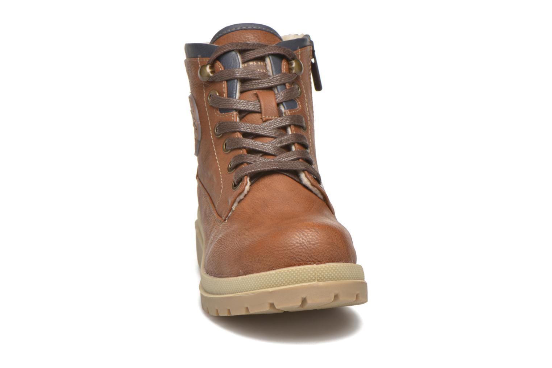 Bottines et boots Mustang shoes Hanne Marron vue portées chaussures