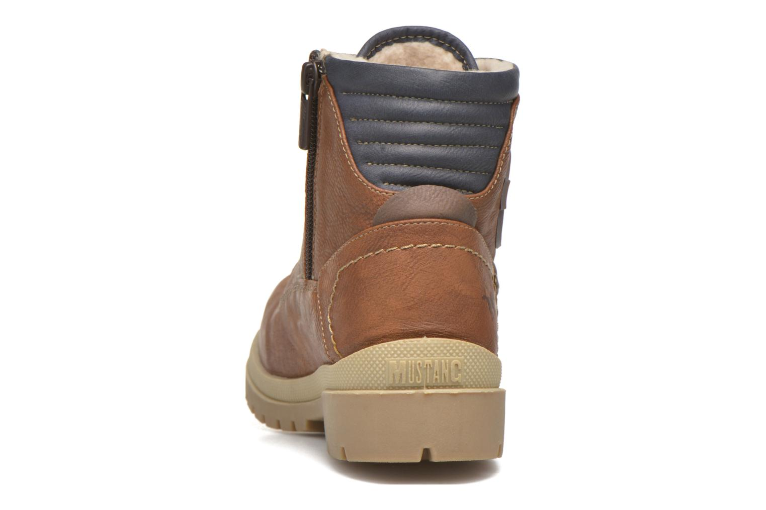 Ankle boots Mustang shoes Hanne Brown view from the right