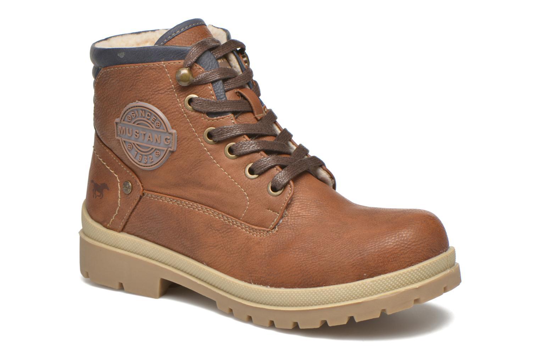 Bottines et boots Mustang shoes Hanne Marron vue détail/paire