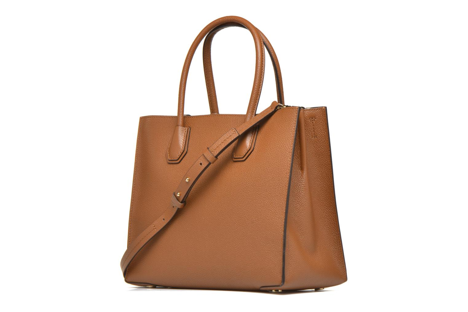 Handbags Michael Michael Kors MERCER LG Convertible Satchel Brown view from the right