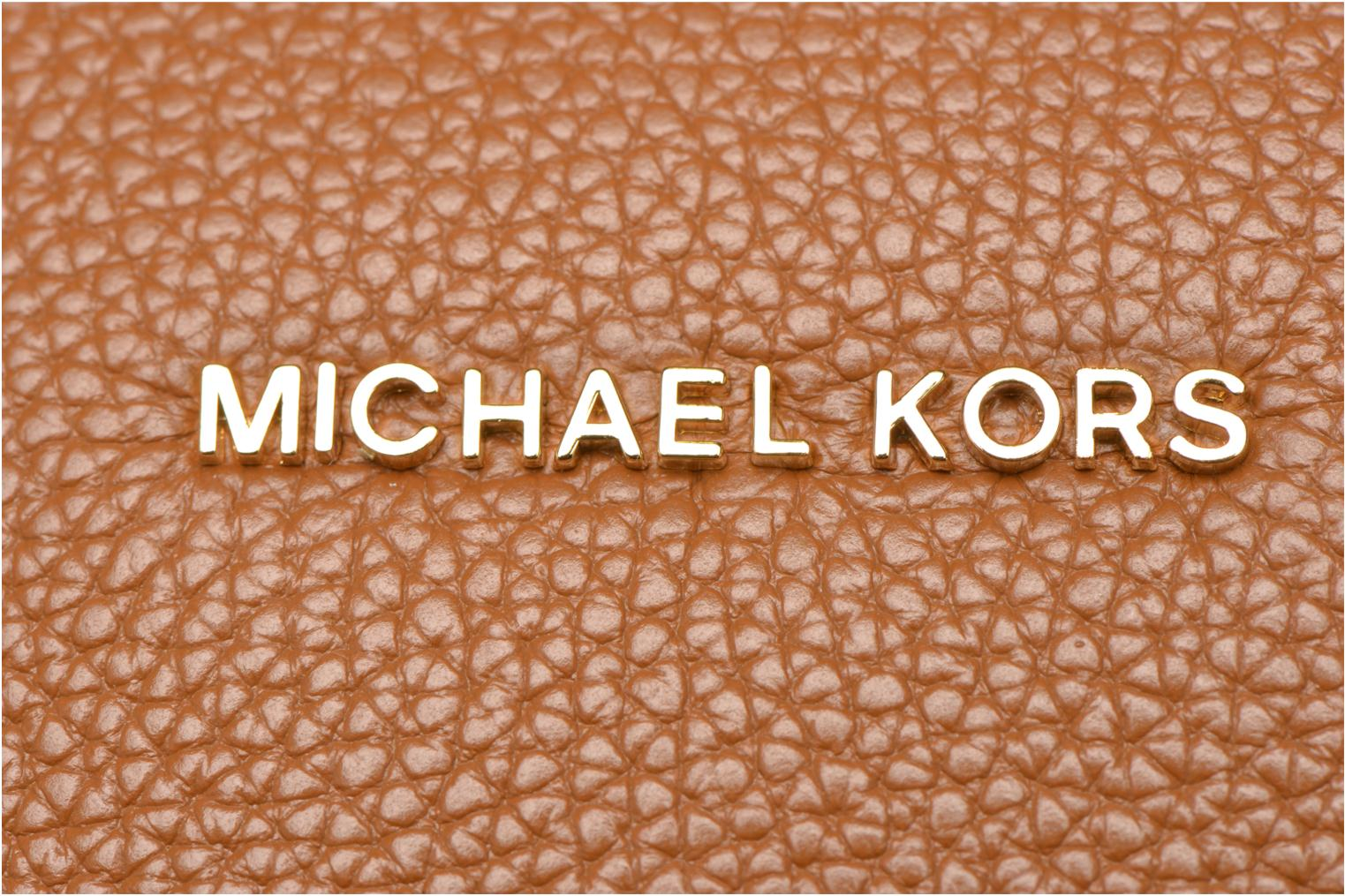 Handbags Michael Michael Kors MERCER LG Convertible Satchel Brown view from the left