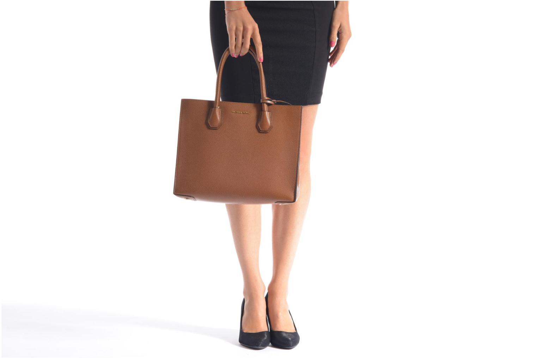 Handtaschen Michael Michael Kors MERCER LG Convertible Satchel braun ansicht von oben