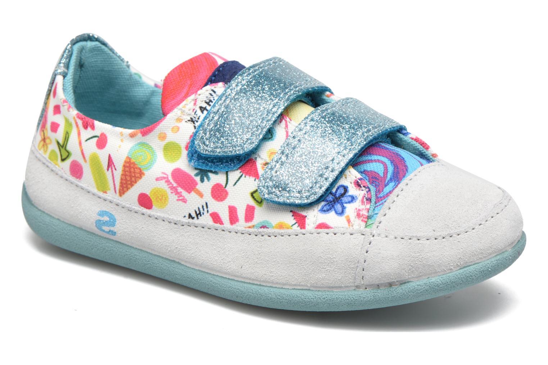 Chaussures à scratch Desigual SHOES_MINI HAPPY 2 Bleu vue détail/paire