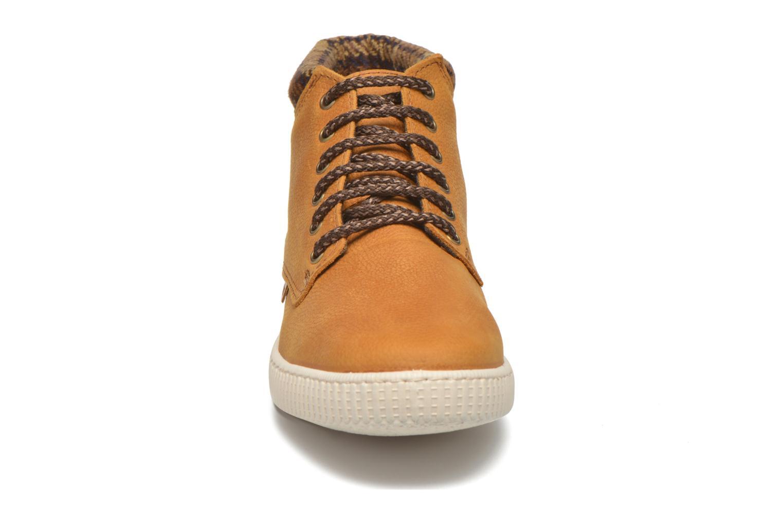 Sneaker Victoria Bota Piel Bombeada Cuello braun schuhe getragen