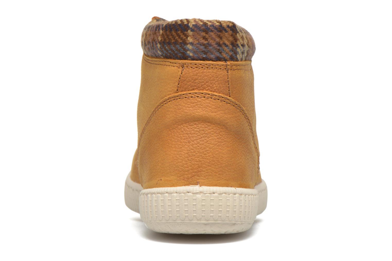 Sneakers Victoria Bota Piel Bombeada Cuello Marrone immagine destra