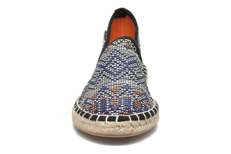 Espadrilles Les Tropéziennes par M Belarbi Persan Bleu vue portées chaussures