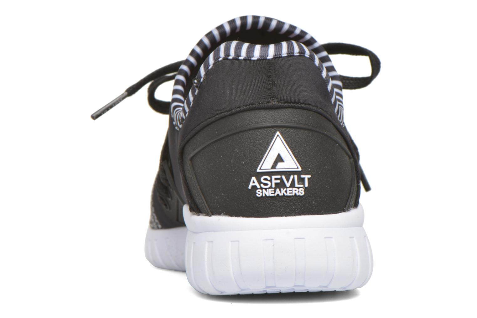 Trainers Asfvlt Area Low Black view from the right
