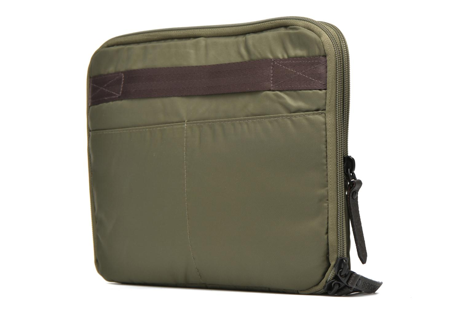 Laptop cases Bensimon Web Bag Green view from the right