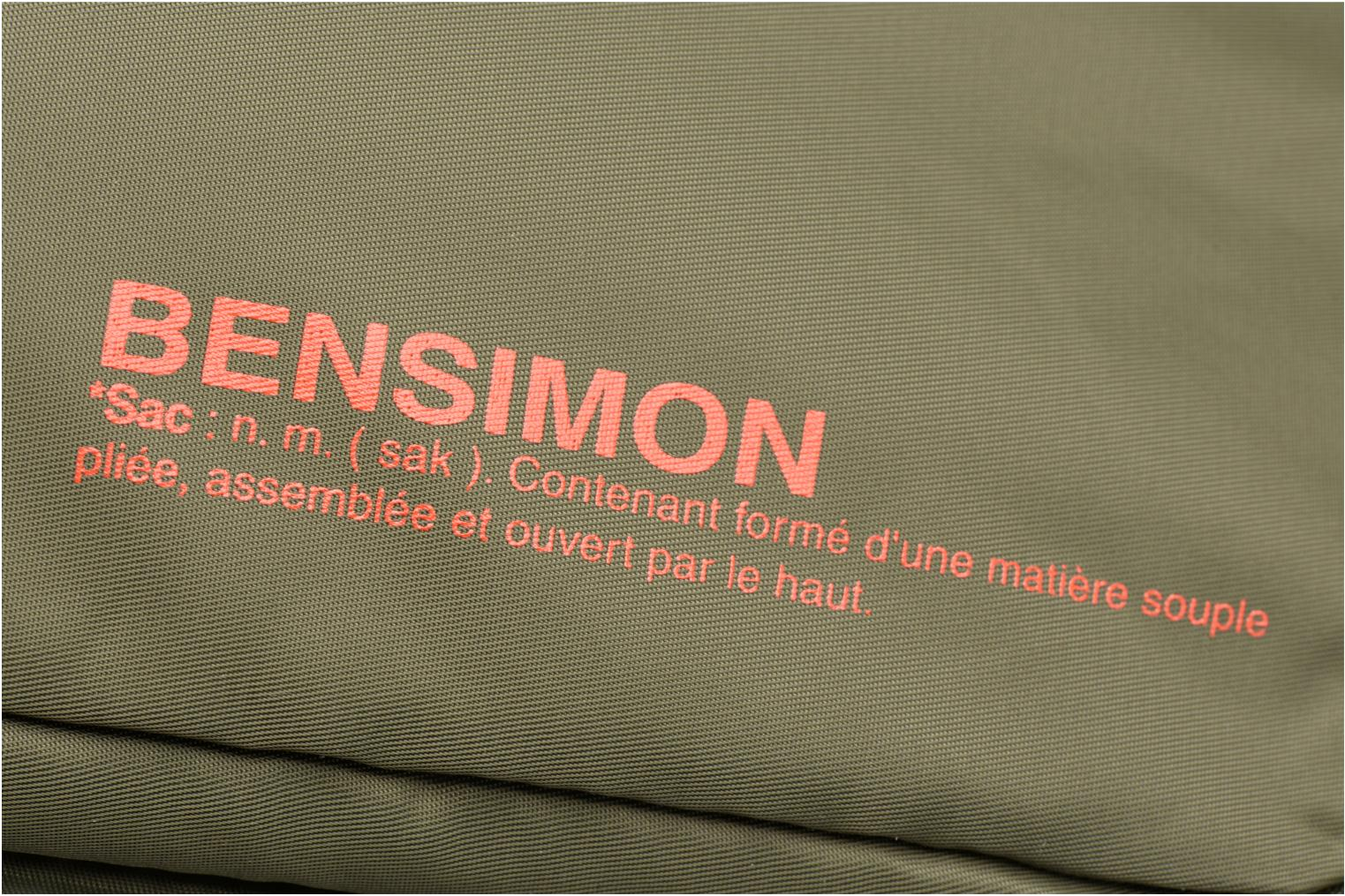 Laptop cases Bensimon Web Bag Green view from the left