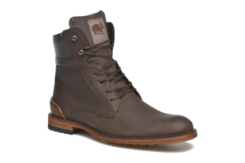 Bottines et boots Floris Van Bommel Ted Marron vue détail/paire