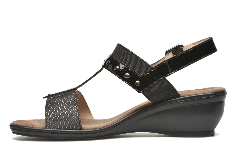 Sandales et nu-pieds Sweet Zaela Noir vue face