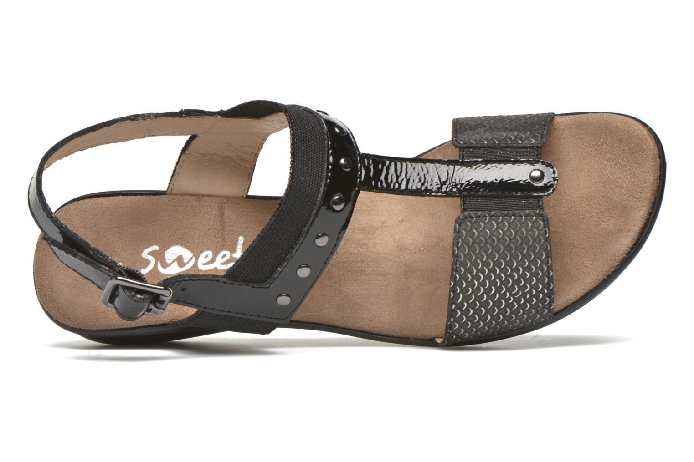 Sandales et nu-pieds Sweet Zaela Noir vue gauche