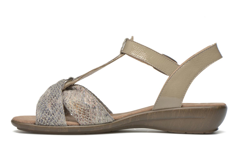 Sandales et nu-pieds Sweet Zoumba Beige vue face