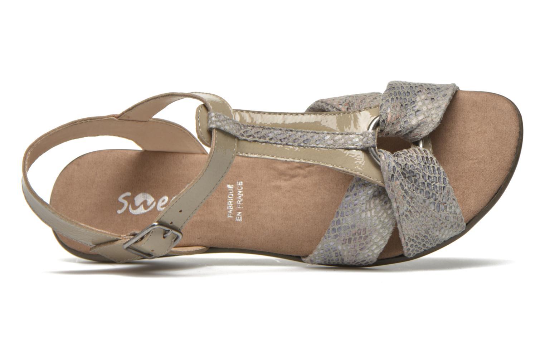 Sandales et nu-pieds Sweet Zoumba Beige vue gauche